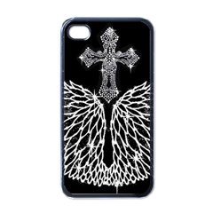 Bling Wings and Cross Black Apple iPhone 4 Case