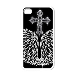 Bling Wings and Cross White Apple iPhone 4 Case