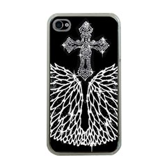 Bling Wings and Cross Apple iPhone 4 Case (Clear)