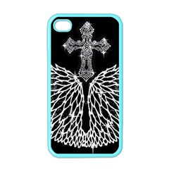 Bling Wings And Cross Apple Iphone 4 Case (color)