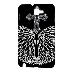 Bling Wings and Cross Samsung Galaxy Note Hardshell Case