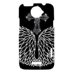 Bling Wings and Cross HTC One X Hardshell Case