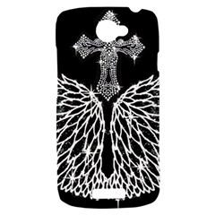 Bling Wings and Cross HTC One S Hardshell Case