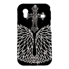 Bling Wings and Cross Samsung Galaxy Ace S5830 Hardshell Case