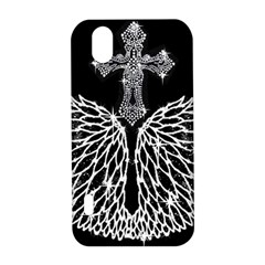 Bling Wings and Cross LG Optimus P970 Hardshell Case