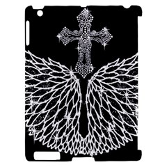 Bling Wings and Cross Apple iPad 2 Hardshell Case (Compatible with Smart Cover)