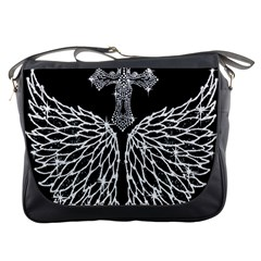 Bling Wings and Cross Messenger Bag