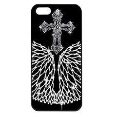 Bling Wings and Cross Apple iPhone 5 Seamless Case (Black)