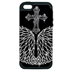 Bling Wings and Cross Apple iPhone 5 Hardshell Case (PC+Silicone)