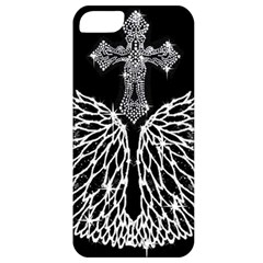 Bling Wings And Cross Apple Iphone 5 Classic Hardshell Case