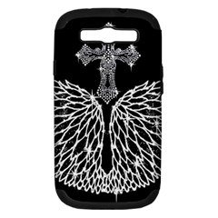 Bling Wings And Cross Samsung Galaxy S Iii Hardshell Case (pc+silicone)