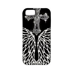 Bling Wings And Cross Apple Iphone 5 Classic Hardshell Case (pc+silicone)