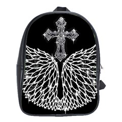 Bling Wings And Cross School Bag (xl)