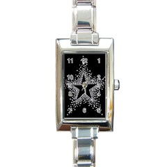 Sparkling Bling Star Cluster Classic Elegant Ladies Watch (Rectangle)