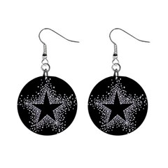 Sparkling Bling Star Cluster Mini Button Earrings