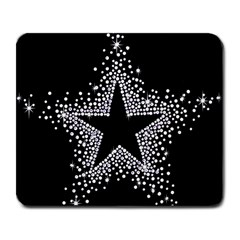 Sparkling Bling Star Cluster Large Mouse Pad (Rectangle)