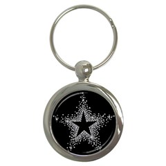 Sparkling Bling Star Cluster Key Chain (Round)