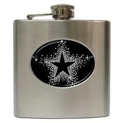 Sparkling Bling Star Cluster Hip Flask