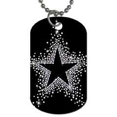 Sparkling Bling Star Cluster Twin-sided Dog Tag
