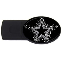Sparkling Bling Star Cluster 1Gb USB Flash Drive (Oval)