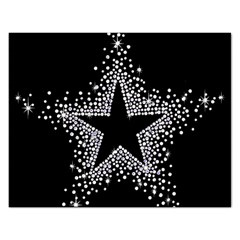 Sparkling Bling Star Cluster Jigsaw Puzzle (rectangle)