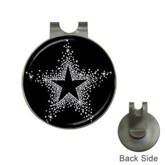 Sparkling Bling Star Cluster Hat Clip with Golf Ball Marker