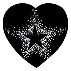 Sparkling Bling Star Cluster Jigsaw Puzzle (heart)