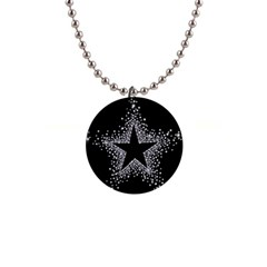 Sparkling Bling Star Cluster Mini Button Necklace