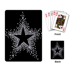 Sparkling Bling Star Cluster Standard Playing Cards