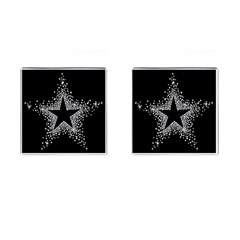 Sparkling Bling Star Cluster Square Cuff Links