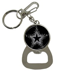 Sparkling Bling Star Cluster Key Chain with Bottle Opener