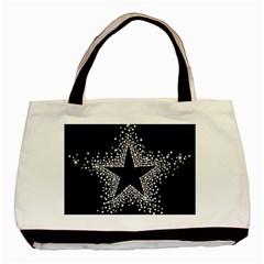 Sparkling Bling Star Cluster Black Tote Bag