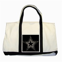 Sparkling Bling Star Cluster Two Toned Tote Bag
