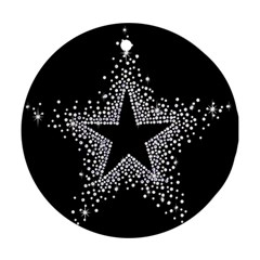Sparkling Bling Star Cluster Twin Sided Ceramic Ornament (round)