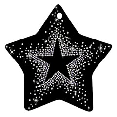 Sparkling Bling Star Cluster Twin-sided Ceramic Ornament (Star)