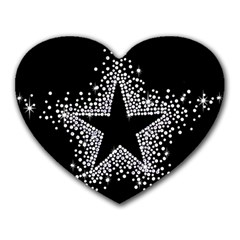 Sparkling Bling Star Cluster Mouse Pad (Heart)