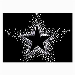 Sparkling Bling Star Cluster Single Sided Handkerchief