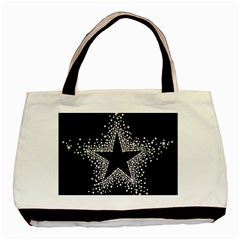 Sparkling Bling Star Cluster Twin-sided Black Tote Bag