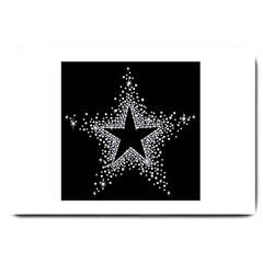 Sparkling Bling Star Cluster Large Door Mat