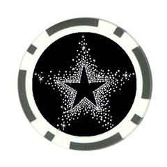 Sparkling Bling Star Cluster Poker Chip