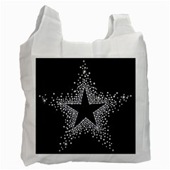Sparkling Bling Star Cluster Single-sided Reusable Shopping Bag