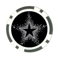 Sparkling Bling Star Cluster 10 Pack Poker Chip