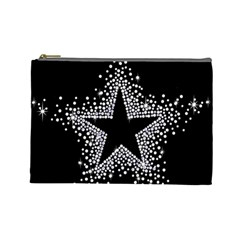 Sparkling Bling Star Cluster Large Makeup Purse