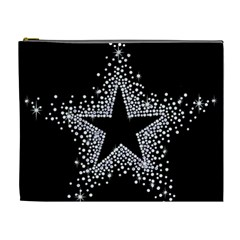 Sparkling Bling Star Cluster Extra Large Makeup Purse
