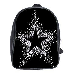 Sparkling Bling Star Cluster Large School Backpack