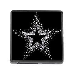 Sparkling Bling Star Cluster Card Reader with Storage (Square)