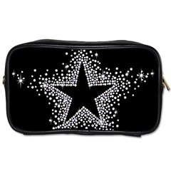 Sparkling Bling Star Cluster Twin-sided Personal Care Bag