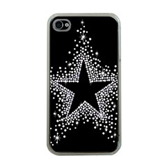 Sparkling Bling Star Cluster Apple iPhone 4 Case (Clear)