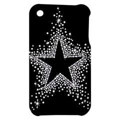 Sparkling Bling Star Cluster Apple iPhone 3G/3GS Hardshell Case