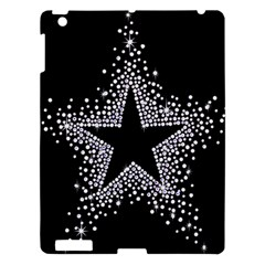 Sparkling Bling Star Cluster Apple iPad 3/4 Hardshell Case